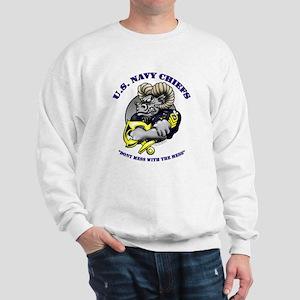 Navy CPO Ram Logo Sweatshirt