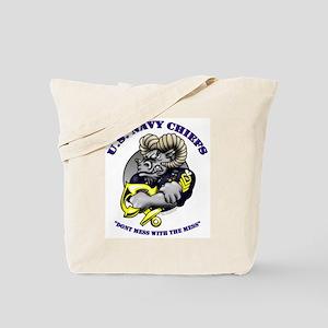 Navy CPO Ram Logo Tote Bag
