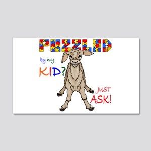 Puzzled? Just Ask! 20x12 Wall Decal