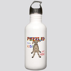 Puzzled? Just Ask! Stainless Water Bottle 1.0L
