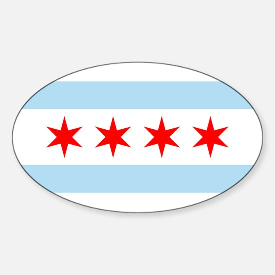 Chicago Flag Rectangle Decal