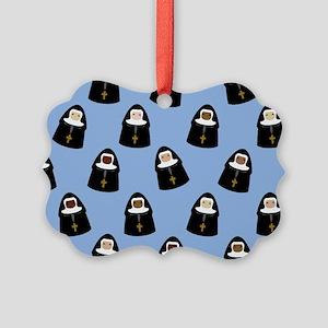 Cute Nuns Picture Ornament