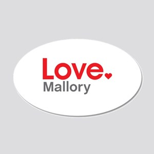 Love Mallory Wall Decal