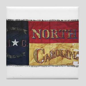 NC Flag Faded Tile Coaster