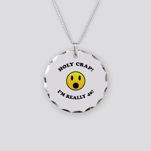 Holy Crap I'm 40! Necklace Circle Charm