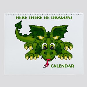 Here There Be Dragons Wall Calendar