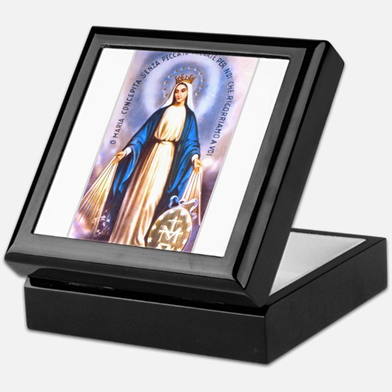 Miraculous Medal of Mary Keepsake Box