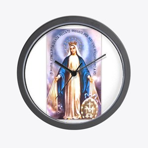 Miraculous Medal of Mary Wall Clock
