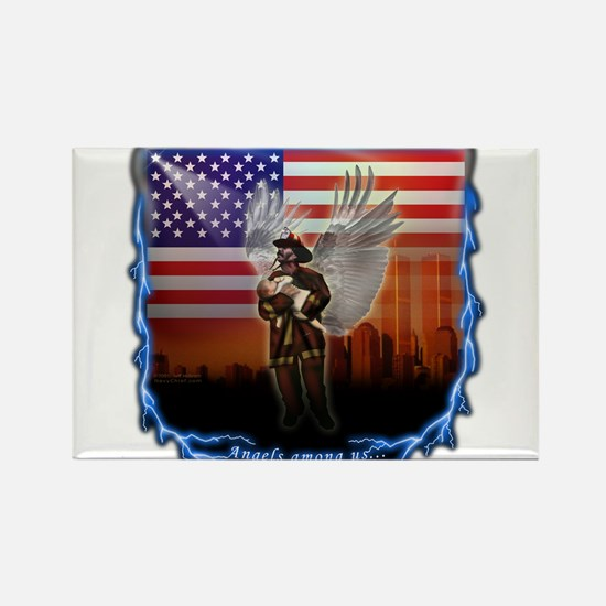 """Angels Among Us"" Image Rectangle Magnet"