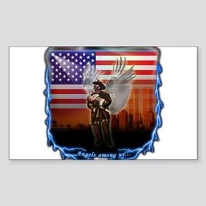 """Angels Among Us"" Image Rectangle Sticker"