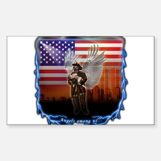 """Angels Among Us"" Image Rectangle Decal"