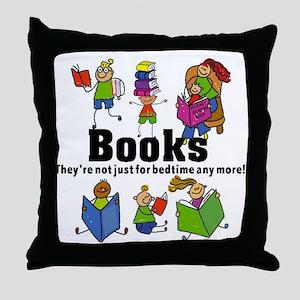 Books Bedtime Throw Pillow