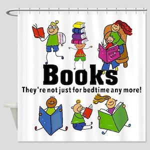 Books Bedtime Shower Curtain