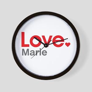 Love Marie Wall Clock