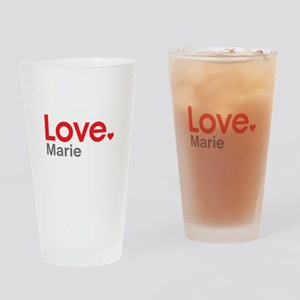 Love Marie Drinking Glass