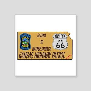 Kansas Highway Patrol Route 66 Sticker