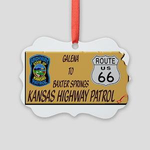 Kansas Highway Patrol Route 66 Ornament