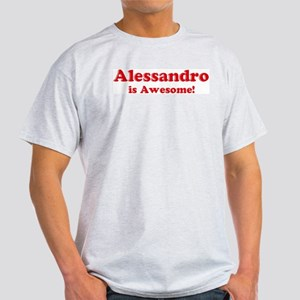 Alessandro is Awesome Ash Grey T-Shirt