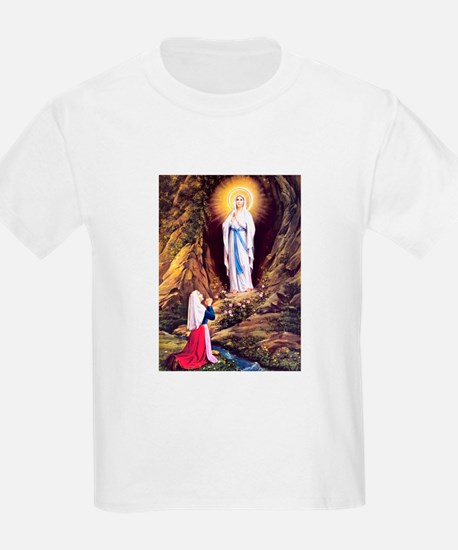 Virgin Mary - Lourdes Kids T-Shirt