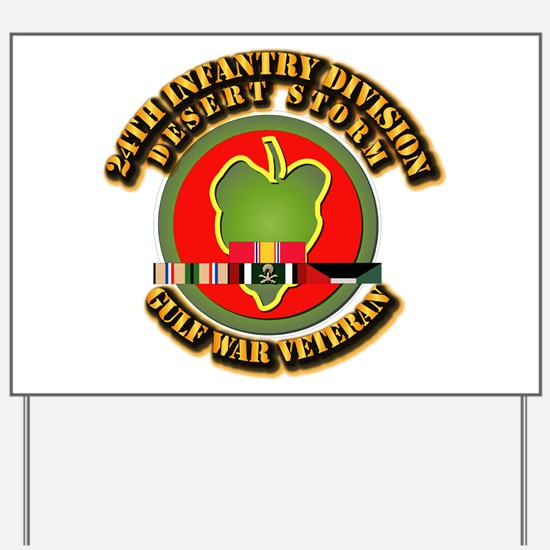 Army - DS - 24th INF Div Yard Sign