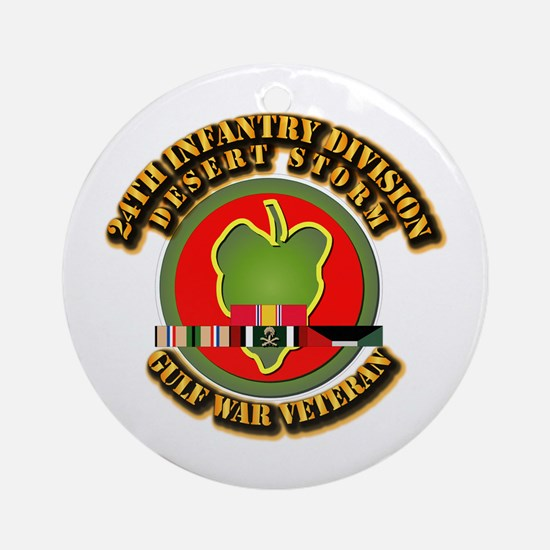 Army - DS - 24th INF Div Ornament (Round)