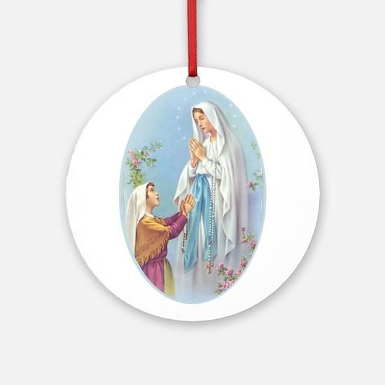 Virgin Mary - Lourdes Ornament (Round)