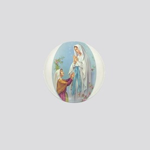 Virgin Mary - Lourdes Mini Button