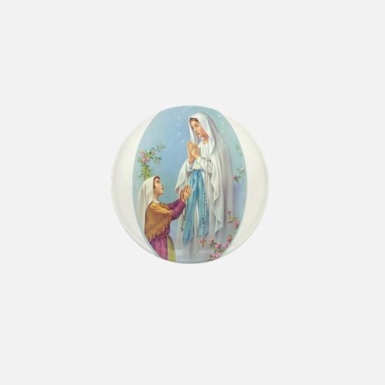 Virgin Mary - Lourdes Mini Button