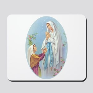 Virgin Mary - Lourdes Mousepad