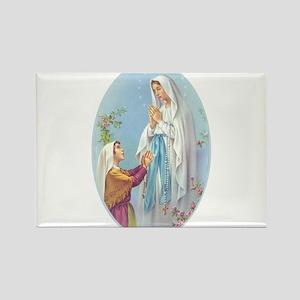Virgin Mary - Lourdes Rectangle Magnet