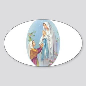 Virgin Mary - Lourdes Oval Sticker