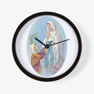 Virgin Mary - Lourdes Wall Clock