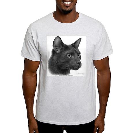 Havana Brown Cat Ash Grey T-Shirt