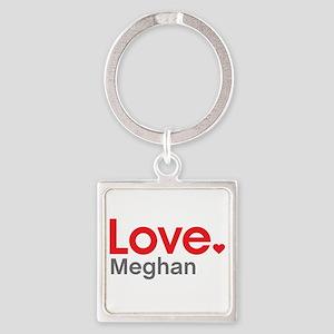 Love Meghan Square Keychain