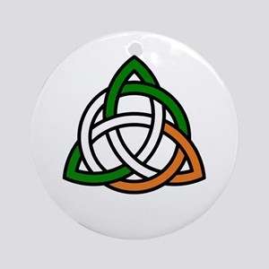 irish celtic knot Round Ornament