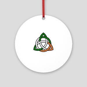 irish celtic knot Round Ornament