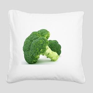 F & V - Broccoli Design Square Canvas Pillow