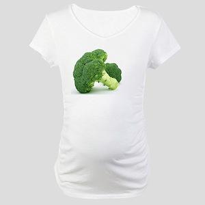 F & V - Broccoli Design Maternity T-Shirt