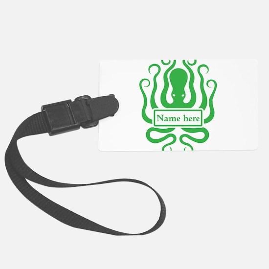 Custom Octopus Design Luggage Tag