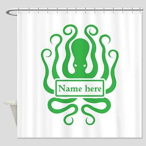 Custom Octopus Design Shower Curtain