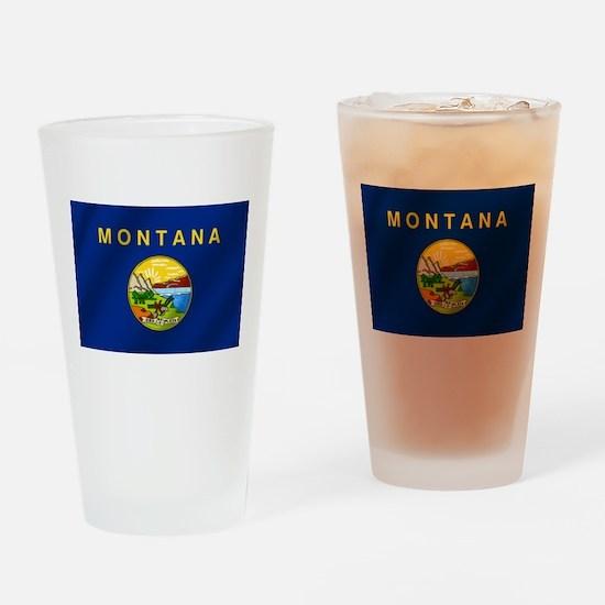 Flag of Montana Drinking Glass