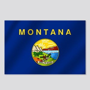 Flag of Montana Postcards (Package of 8)