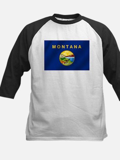 Flag of Montana Kids Baseball Jersey