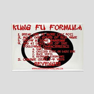 Kung Fu Formula Rectangle Magnet