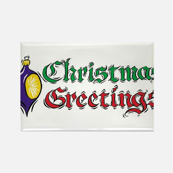 CHRISTMAS GREETINGS Rectangle Magnet