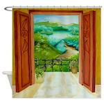 Balcony shower curtain