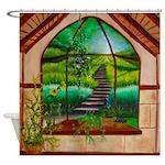 Bay Window shower curtain