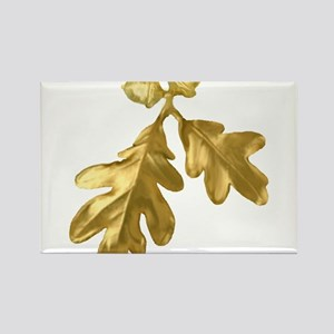Golden Oak (leaves & acorns) Rectangle Magnet