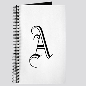 Blackletter Monogram A Journal