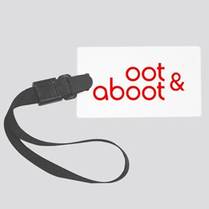 Oot & Aboot (red) Large Luggage Tag